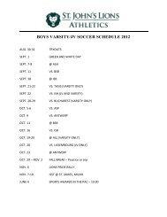 BOYS VARSITY/JV SOCCER SCHEDULE 2012