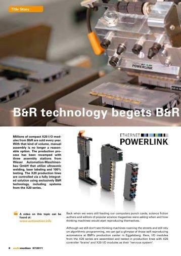 B&R technology begets B&R technolog - automotion
