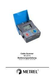 Cable Scanner MI 2014 Bedienungsanleitung - Metrel