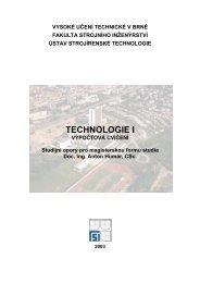 výpočtová cvičení - VUT UST - Vysoké učení technické v Brně