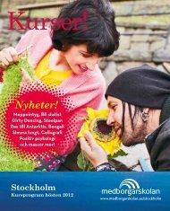 Stockholm hösten 2012 - Medborgarskolan