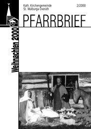 Pfarrbrief - St. Walburga