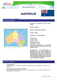 AUSTRALIE - ILE-DE-FRANCE INTERNATIONAL