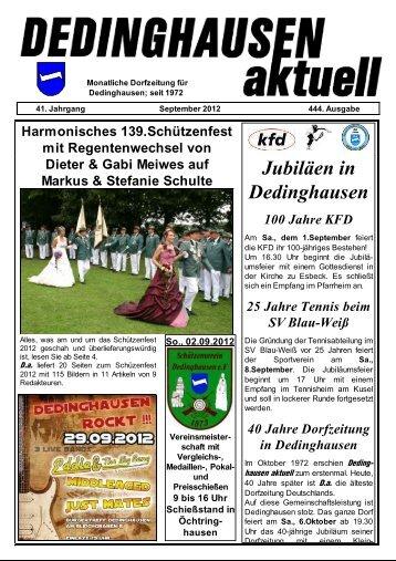 D.a. Sept. 2012 - Dedinghausen