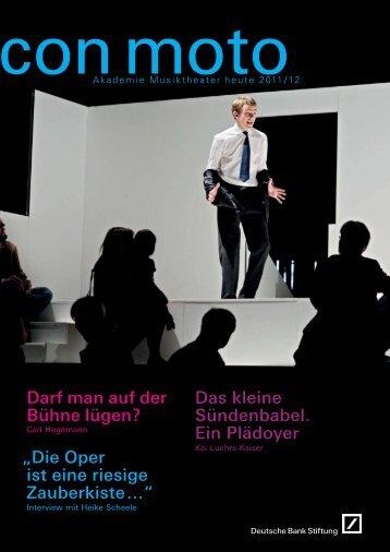 Con Moto 2011/12 - Deutsche Bank Stiftung