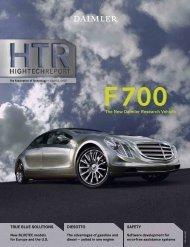 F700 The New Daimler Research Vehicle - Daimler Technicity
