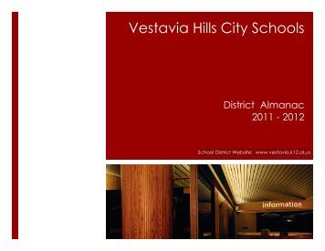 vhcs district almanac 2011-12 - Vestavia Hills City Schools