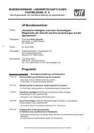 vlf-Bundesseminar Programm - Bundesverband Landwirtschaftlicher ...