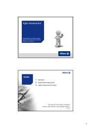 Agiles Assessment - Agile World 2013