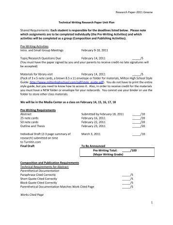How Professors Grade a Research Paper
