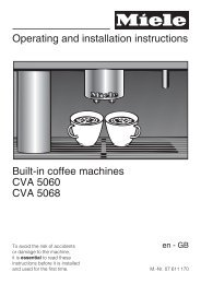 Operating and installation instructions Built-in coffee machines CVA ...