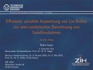 Effiziente, parallele Auswertung von Lie-Reihen zur semi ...