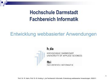 Beispiel - beim Fachbereich Informatik - Hochschule Darmstadt