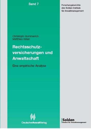 Forschungsberichte Des Soldan Instituts Für Anwaltmanagement ...
