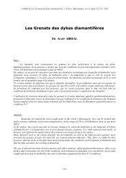 Les Grenats des Dykes diamantifères - Page perso minéraux Alain ...