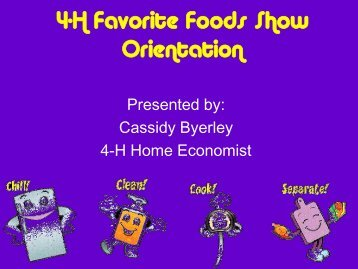 4-H Favorite Foods Show Orientation - Bernalillo County Extension ...