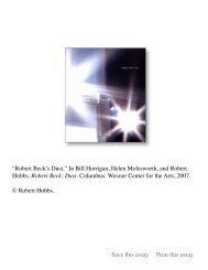 """""""Robert Beck's Dust"""" in Bill Horrigan, Helen ... - Robert Hobbs"""