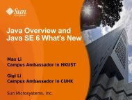 Java Overview and Java SE 6 What's New - NetBeans in Education