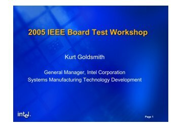 1-Goldsmith-2005 IEE.. - Board Test Workshop Home Page