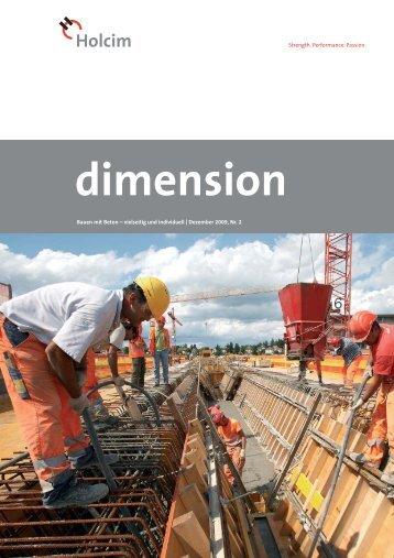 dimension 2/09 - Holcim Schweiz
