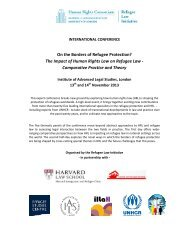 On the Borders of Refugee Protection? - International Association of ...