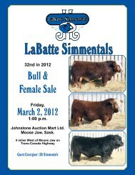 Bull & Female Sale - Bouchard Livestock International