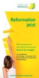 Kfm Wahlprogramm 2013 - Kirche für morgen
