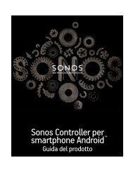 Sonos Controller per smartphone Android - Almando