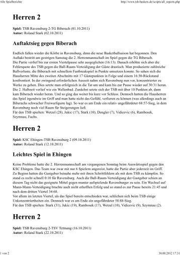 Spielberichte Saison 2011/2012 (PDF) - Tsb-baskets.de