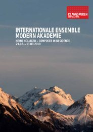 internationale ensemble modern akademie - Klangspuren Schwaz