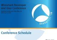 Conference Schedule - Sharkfest - Wireshark