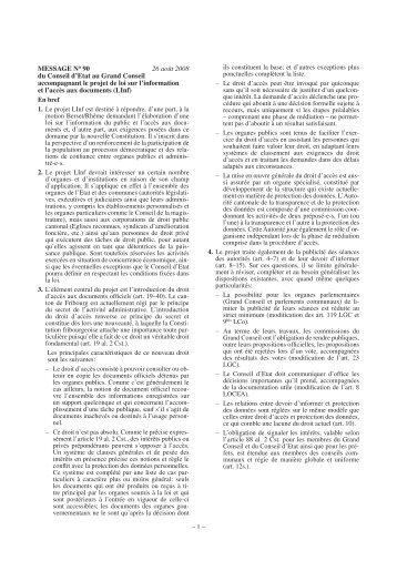 Gesetzesentwurf - Fribourg