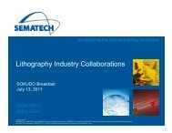 Lithography Industry Collaborations - Sokudo