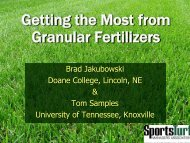 Getting the Most from Your Granular Fertilizers - STMA