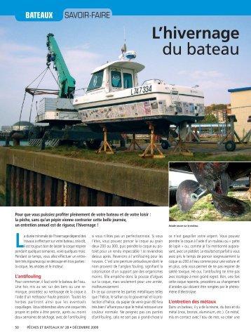 L'hivernage du bateau - Le Pecheur de France