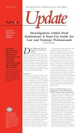 Investigations within Deaf Institutions - National District Attorneys ...