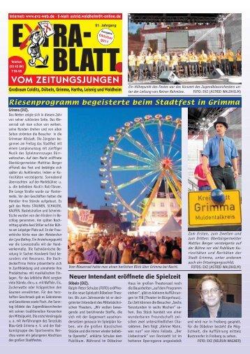 Leisniger Impressionen 2012 - Extrablatt vom Zeitungsjungen