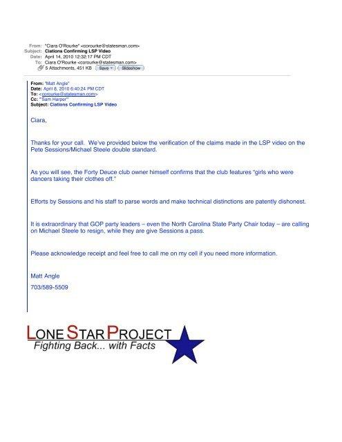 Ciations Confirming LSP Video