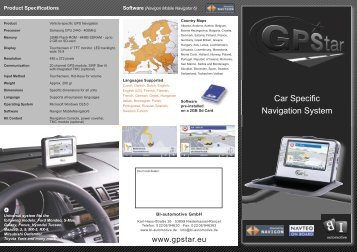 Car Specific Navigation System - GPStar