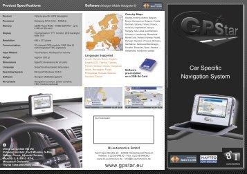 Car Specific Navigation System - GPStar