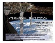 INTERNATIONAL SPACE STATION - Caltech