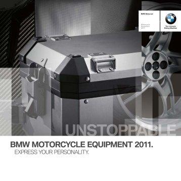bmw motorcycle e2uipment 2011. - BMW Motorrad New Zealand