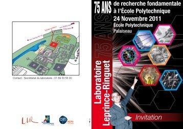 Invitation - Laboratoire Leprince-Ringuet