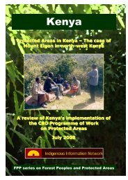 Protected areas in Kenya.pdf - Forest Peoples Programme