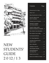 new students' guide 2 0 12 / 1 3 - New College – University of Toronto