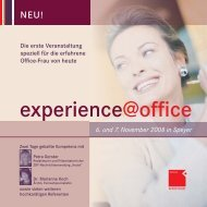 experience@office 13.indd - OFFICE SEMINARE