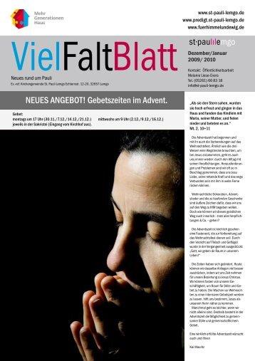 VielFaltBlatt12-09. - St-Pauli-Lemgo