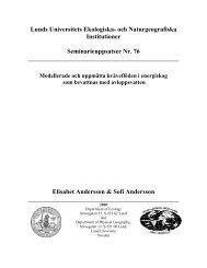 Lunds Universitets Ekologiska - Institutionen för naturgeografi och ...