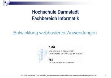 div - beim Fachbereich Informatik - Hochschule Darmstadt