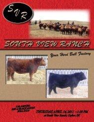 SOUTH VIEW RANCH - SaskLivestock